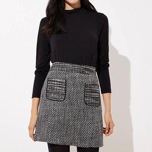NEW Loft Tweed Pocket Skirt Size 0 Petite